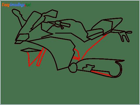 How to draw KTM bike step (7)
