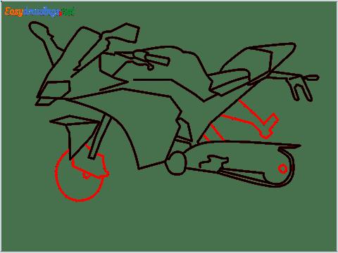 How to draw KTM bike step (8)