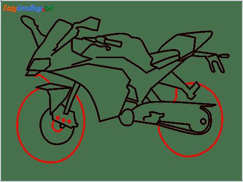 How to draw KTM bike step (9)