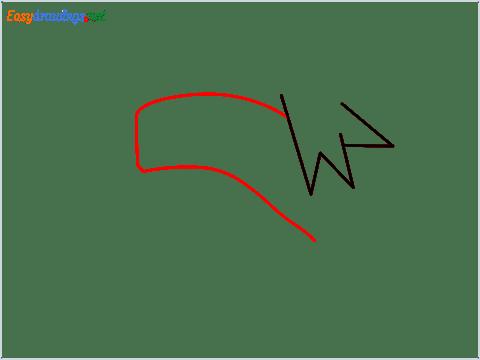 How to draw Kakashi hair step (2)