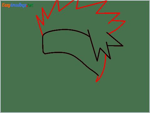How to draw Kakashi hair step (3)