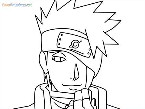 How to draw Kakashi step by step for beginners