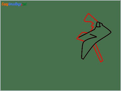 How to draw Kawasaki Ninja H2 step (2)