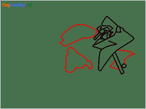 How to draw Kawasaki Ninja H2 step (4)
