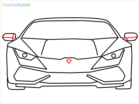 How to draw Lamborghini Huracan step (10)