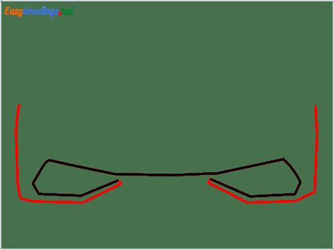 How to draw Lamborghini Huracan step (2)