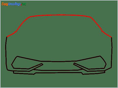 How to draw Lamborghini Huracan step (4)