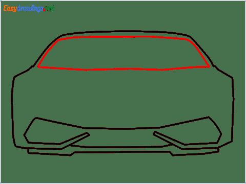 How to draw Lamborghini Huracan step (5)