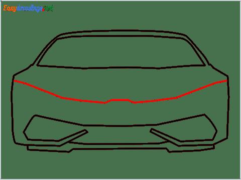 How to draw Lamborghini Huracan step (6)
