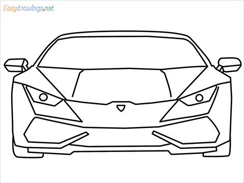 How to draw Lamborghini Huracan step by step for beginners
