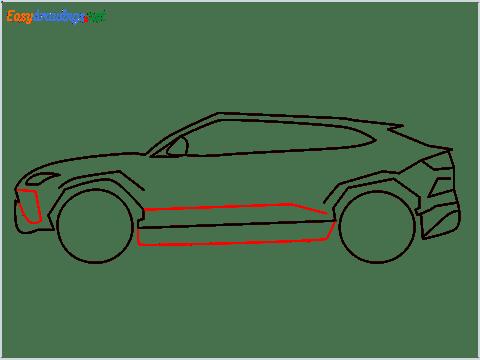 How to draw Lamborghini Urus step (7)