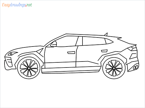 How to draw Lamborghini Urus step by step for beginners