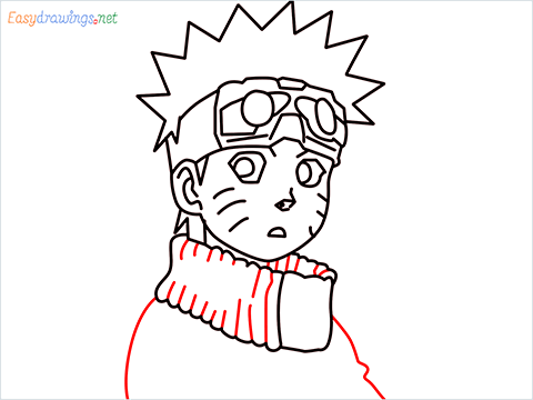 How to draw Naruto step (10)