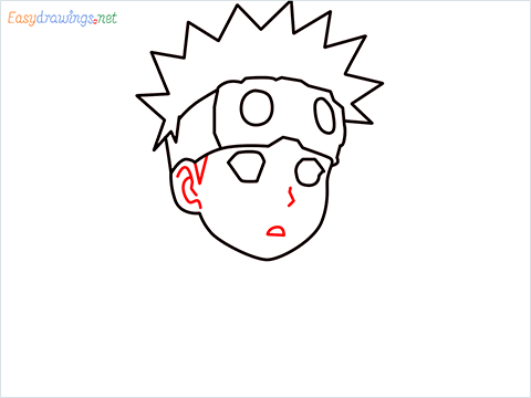 How to draw Naruto step (6)
