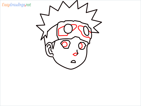 How to draw Naruto step (7)