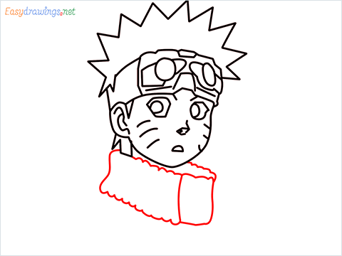 How to draw Naruto step (9)