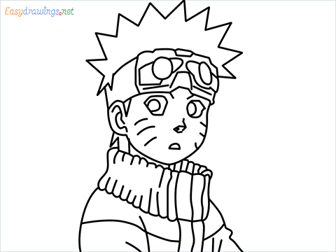 How to draw Naruto step by step for beginners