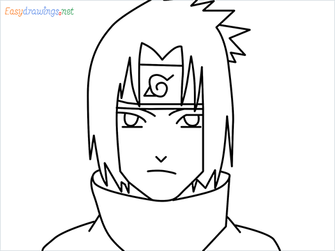 How to draw Sasuke step by step for beginners