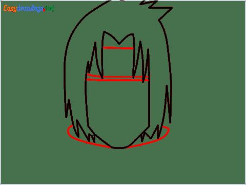 How to draw Sasuke uchiha step (4)
