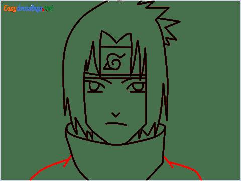 How to draw Sasuke uchiha step (8)