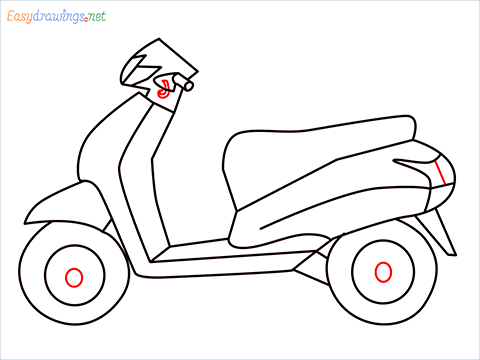 How to draw Scooter step (10)