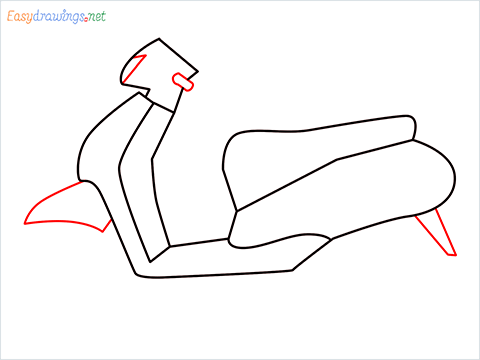 How to draw Scooter step (6)