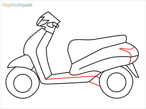 How to draw Scooter step (9)