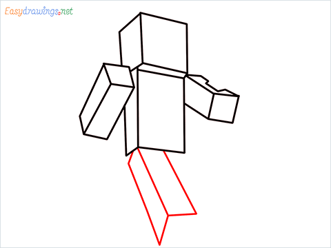 How to draw Steve from minecraft step (6)