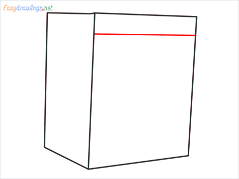 How to draw a Clothes dryer step (3)
