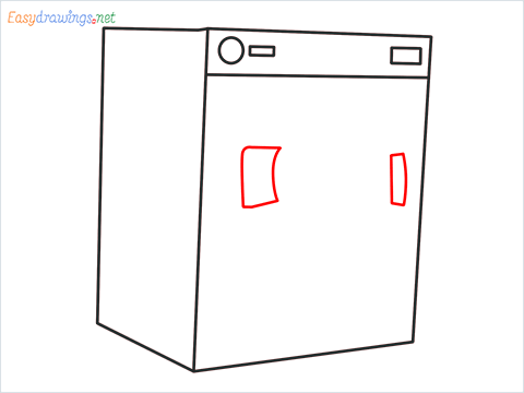 How to draw a Clothes dryer step (5)