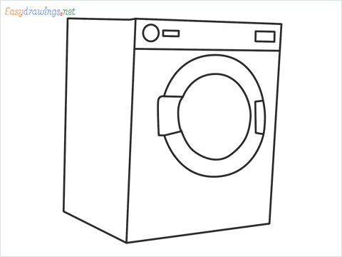 How to draw a Clothes dryer step by step for beginners