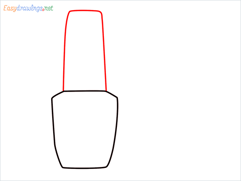How to draw a Cute Nail Polish bottles step (2)