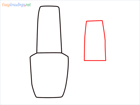 How to draw a Cute Nail Polish bottles step (3)