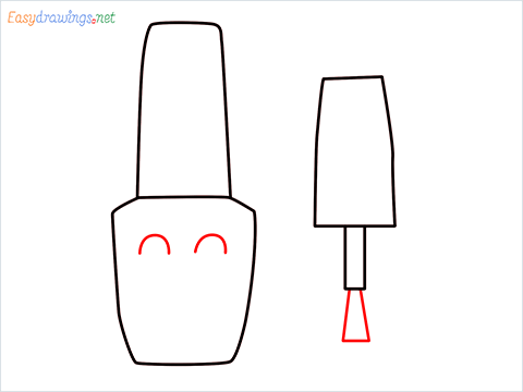 How to draw a Cute Nail Polish bottles step (5)