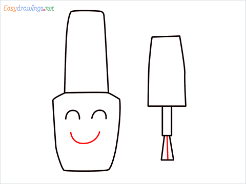 How to draw a Cute Nail Polish bottles step (6)