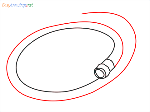 How to draw a Garden hose step (5)