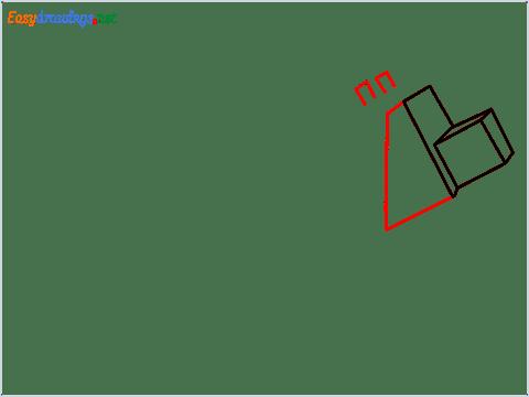 How to draw a Minecraft Dog step (4)