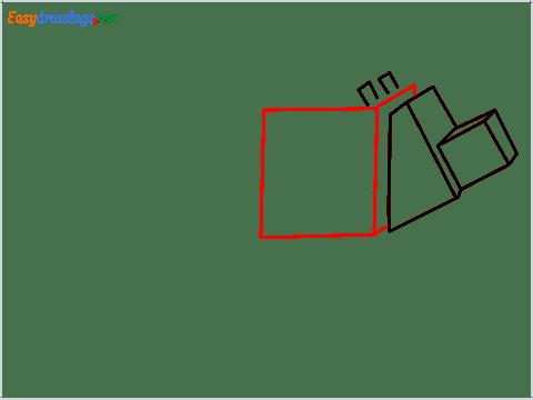 How to draw a Minecraft Dog step (5)