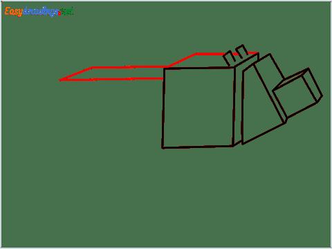 How to draw a Minecraft Dog step (6)