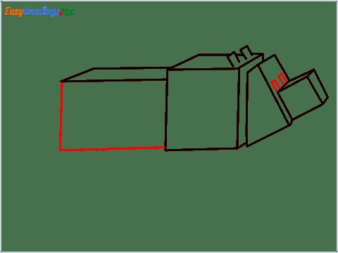 How to draw a Minecraft Dog step (7)