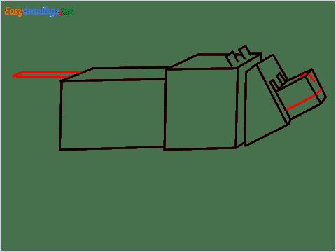 How to draw a Minecraft Dog step (8)