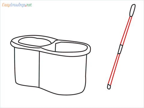 How to draw a Mop step (6)