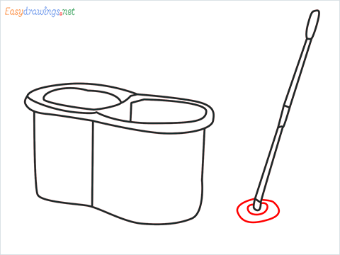 How to draw a Mop step (7)
