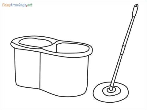 How to draw a Mop step by step for beginners