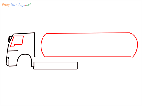 How to draw a Oil Tanker step (3)