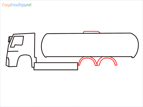 How to draw a Oil Tanker step (4)