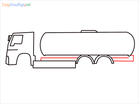 How to draw a Oil Tanker step (5)