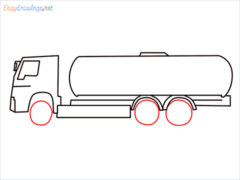 How to draw a Oil Tanker step (6)