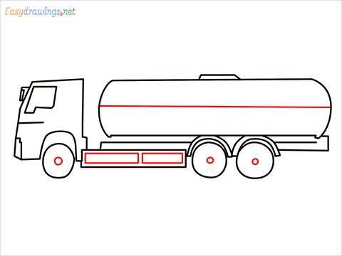 How to draw a Oil Tanker step (7)