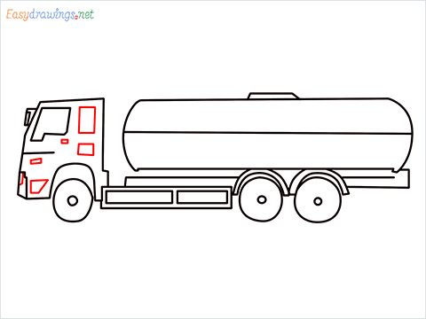 How to draw a Oil Tanker step (8)